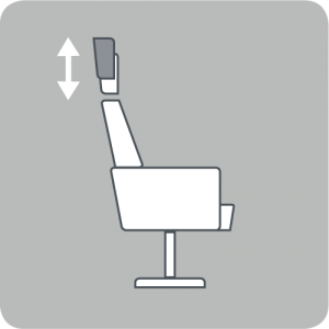 Adjustable headrest height