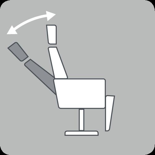 Neigung der Rückenlehne