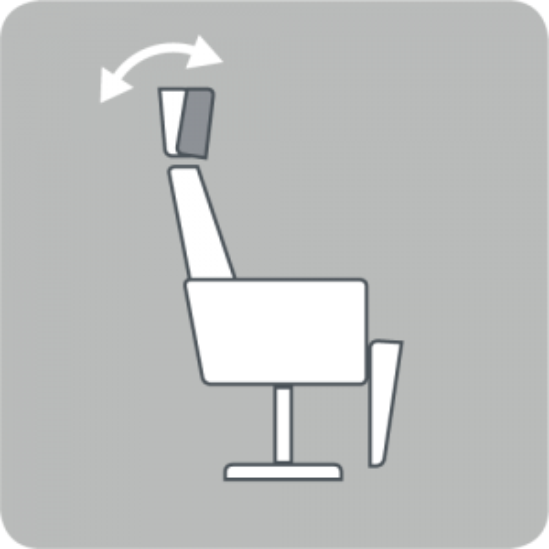 Headrest angle