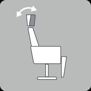 Angle headrest
