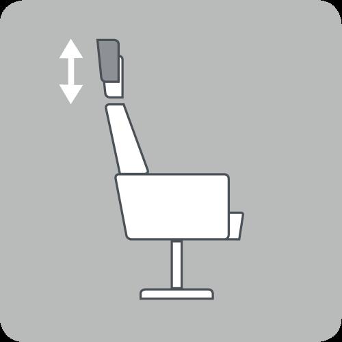 Regulierung der Kopfstützenhöhe
